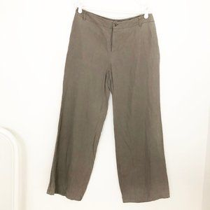 MaxMara Classic Parisian Pure Silk Linen Trousers